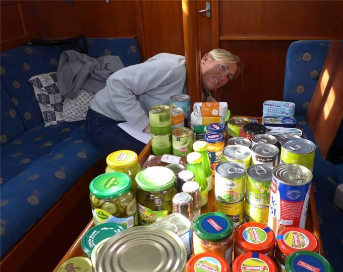 Gibraltar Lebensmittel sortieren