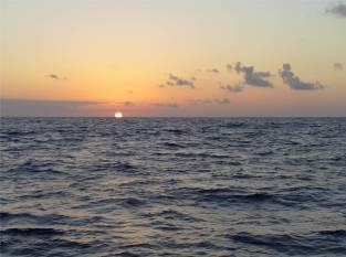 Auf dem Weg nach Teneriffa Sonnenuntergang