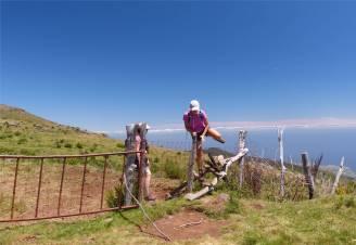 Madeira 5 der Weg fuehrt ueber den Zaun
