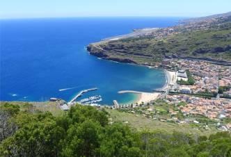 Madeira Blick auf Machico