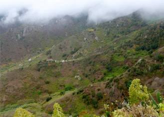 Teneriffa die Wolken über Anaga