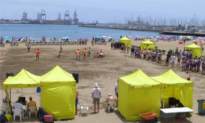 Gran Canaria Rugby am Strand
