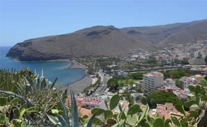 La Gomera Blick über die Bucht von San Sebastian