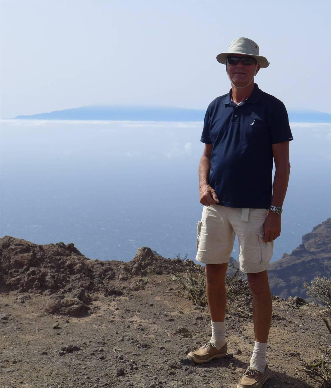 La Gomera Nobbi mit Hut und La Palma