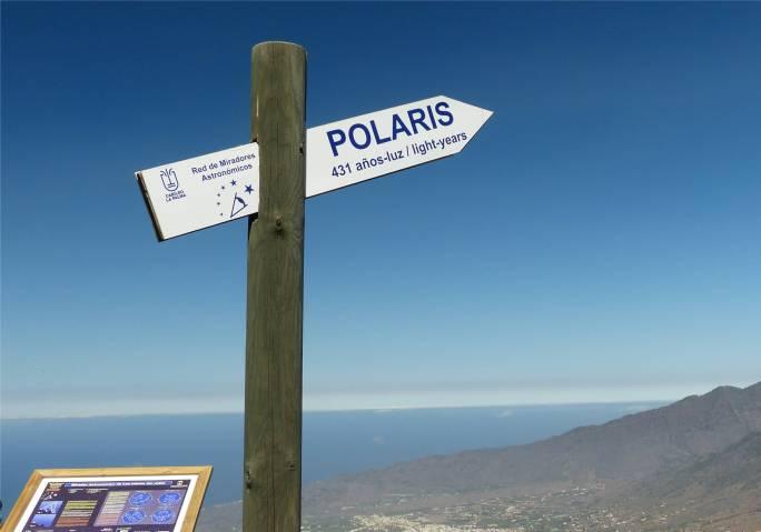 La Palma astronomischer Aussichtspunkt dorthin gucken zum Polarstern