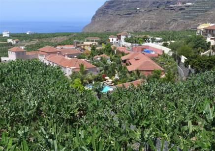 La Palma Bananen mit Hotel