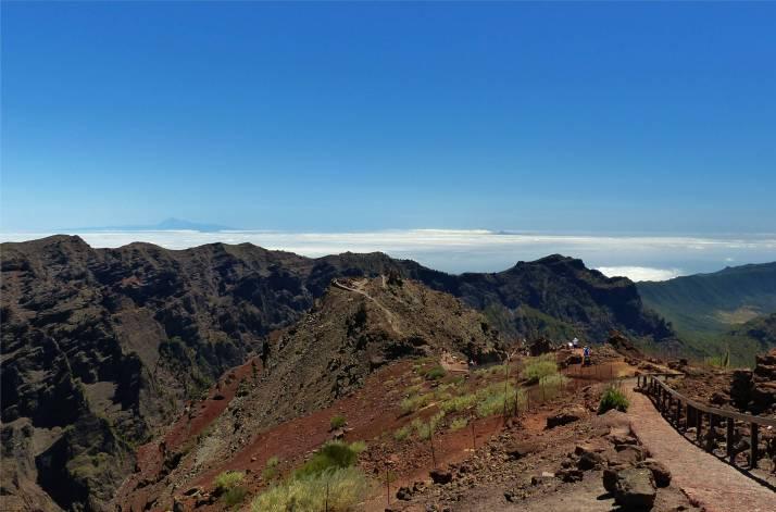 La Palma Blick vom höchsten Berg