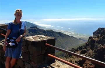 La Palma Inga und im Hintergrund Blick nach Tazacorte