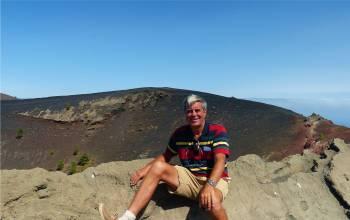 La Palma Nobbi auf dem Kraterrand