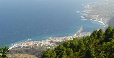 La Palma Santa Cruz aus der Rabenperspektive