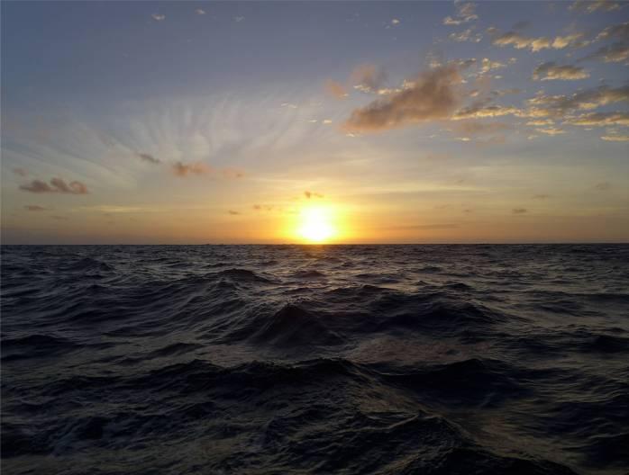 Atlantik die Sonne