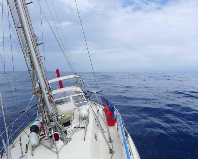 Atlantik segeln mit gaaanz wenig WInd
