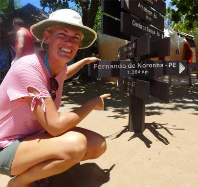 Praia do Forte ganz schon weit nach Fernando de Noronha