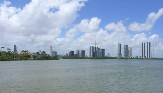Recife viel Wasser in der Stadt