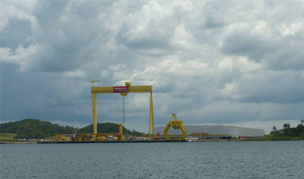 Rio Paraguacu Werft im Bau