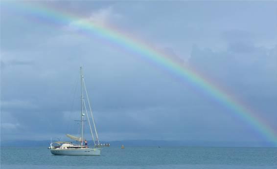 Itaparica Kama unterm Regenbogen