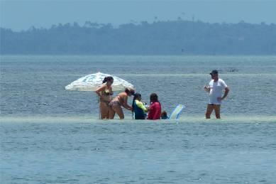 Itaparica Treffen auf der Sandbank