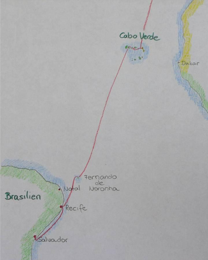 Karte bis Salvador
