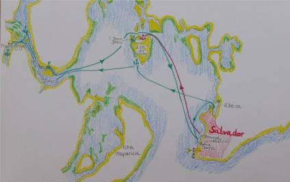 Karte Todos os Santos