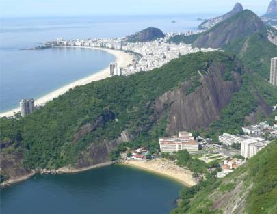 Rio Blick vom Zuckerhut auf Copacabana