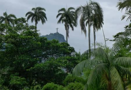 Rio botanischer Garten und Christusstatue