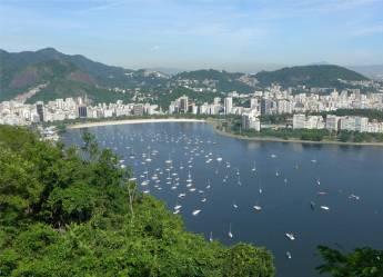 Rio für Tänzer und Segler das ist die Bucht von Botafogo