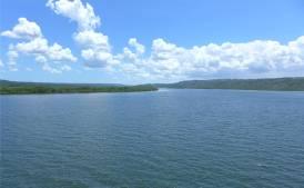 Rio Paraguacu aufwärts von Maragogipe