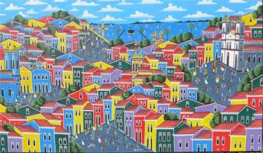 Salvador bunte Häuser von Pelorinho