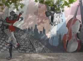 BA Tango an der Wand