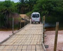 Diamantina schwimmende Brücke über den Paraguacu