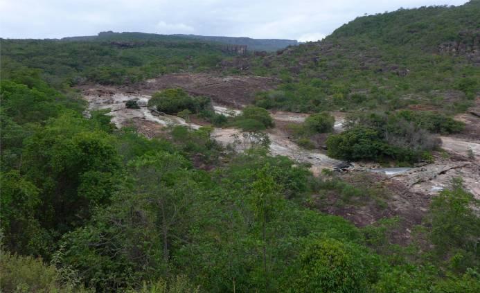 Lencois Blick auf den Fluss