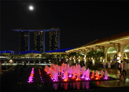 Singapore mit Mond