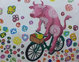 Singapore sportliche Kuh