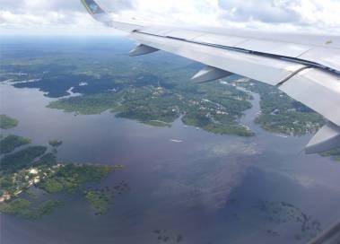 Manaus Fluss im Anflug