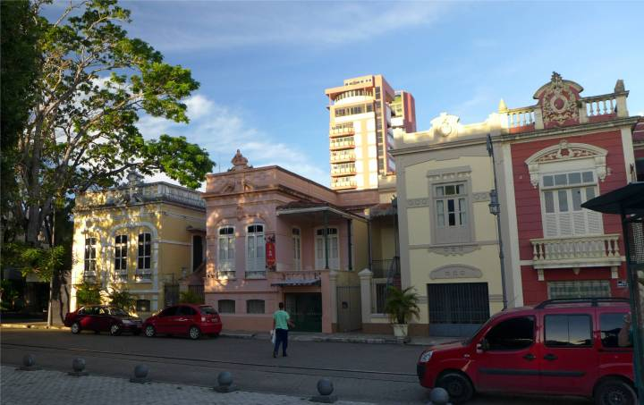 Manaus schöne Häuser in der Altstadt