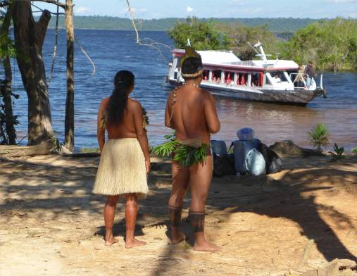 Manaus Tänze und Touristen
