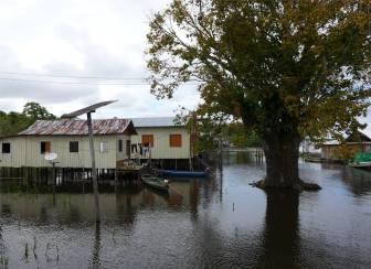 Uacari Boca Mamiraua Community Dorfplatz