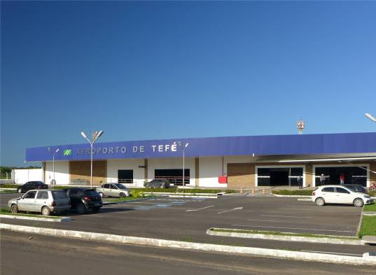 Uacari Tefe Flughafen übersichtlich