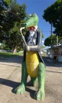 Jacare natürlich gibt es ein Kroko mit Saxophon