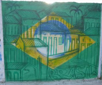 Salvador Wand frisch gemalt