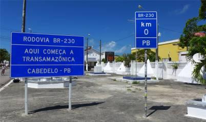 Cabedelo Beginn der Transamazonica