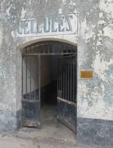 Ile Salut Eingang zu den Zellen auf Royale