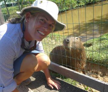 FG Zoo im Zwiegespräch mit dem Capybara