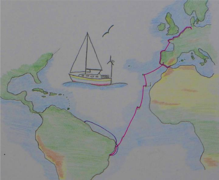 Karte Atlantik Route bis 092018
