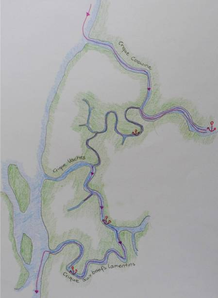 Karte Criques Maroni River