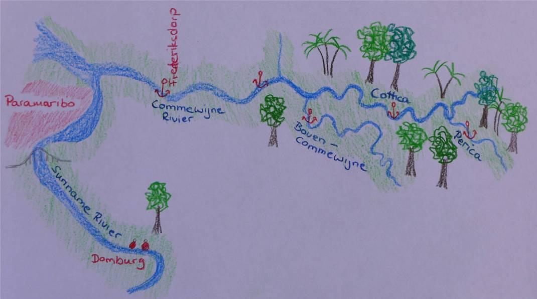 Suriname die Ankerplätze unserer Flusskreuzfahrt