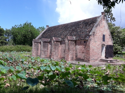 Suriname Nieuw Amsterdam Pulverhaus und Lotus