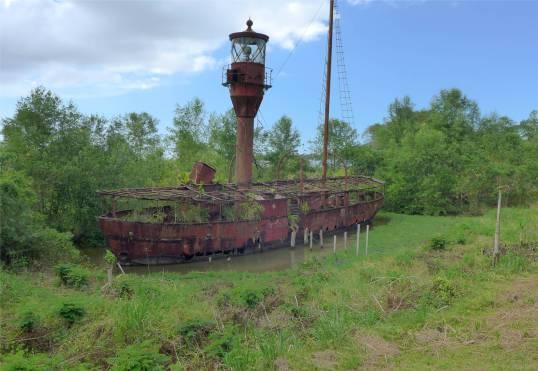 Suriname Nieuw Amsterdam verrottendes Feuerschiff