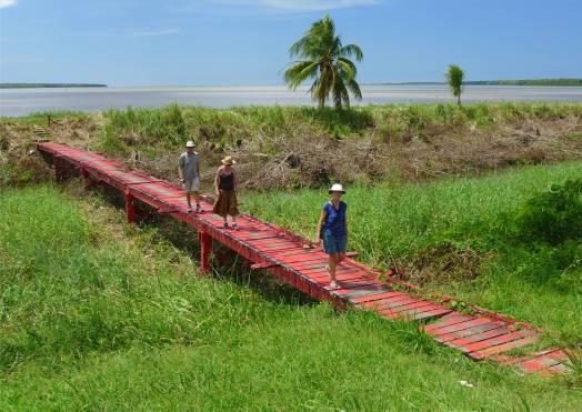 Suriname Nieuw Amsterdam vertrauenserweckende Brücke