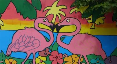 Bonaire romantische Flamingos